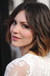 Katherine Mcphee on the red carpet at the Hollywood premiere of True Blood season 6 over shoulder