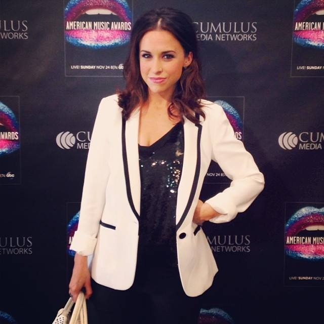 Lacey Chabert on the red carpet at the American Music Awards