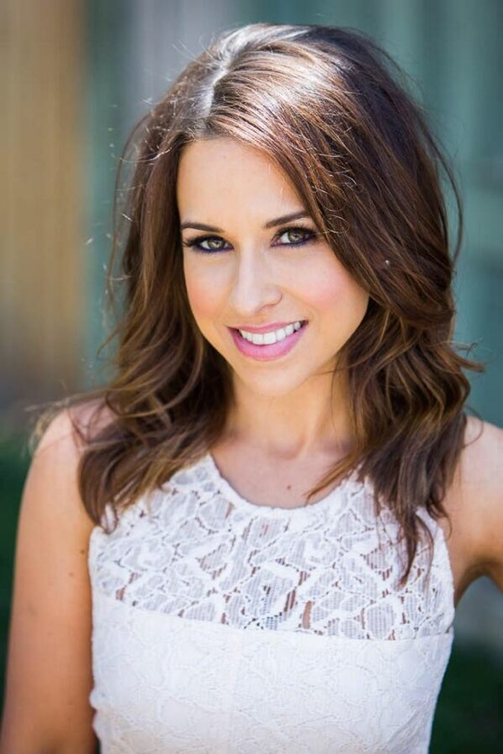 Lacey Chabert wearing white top