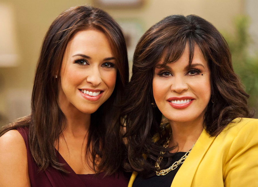 Lacey Chabert with Marie Osmond on her daytime show