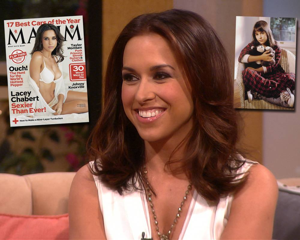 Lacey Chabert with Maxim Magazine cover