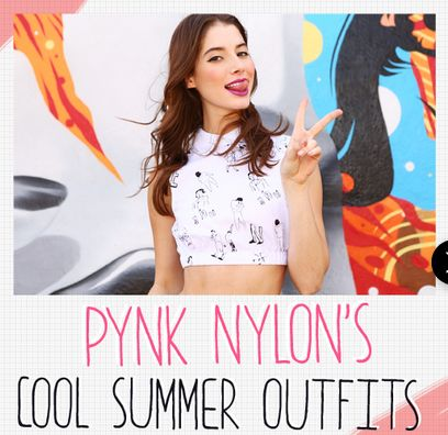 Cool Summer Outfit Ad | Pink Nylons