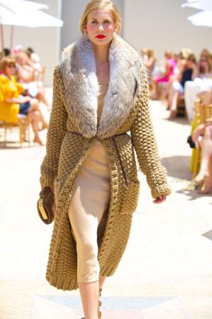 woven with fur | Michael Kors