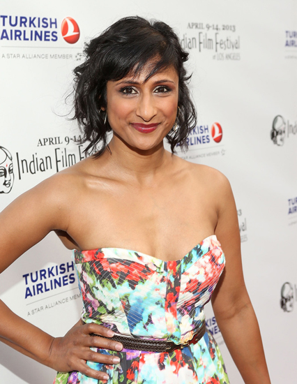 Sarayu Rao on the red carpet at Indian Film Festival