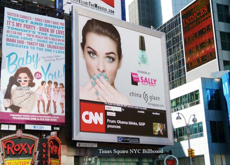 times square nyc billboard | China Glaze Ad