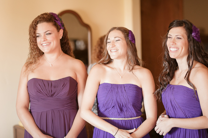 all the bridesmaids smiling