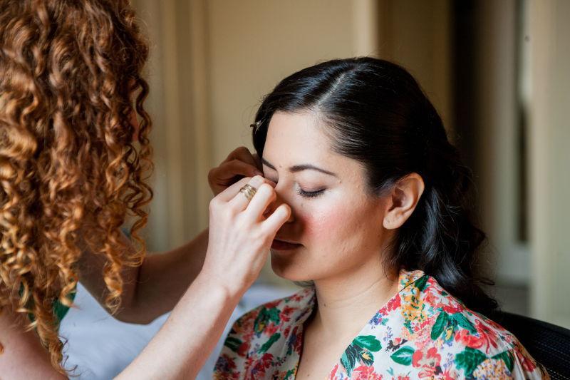 Darlene's makeup application