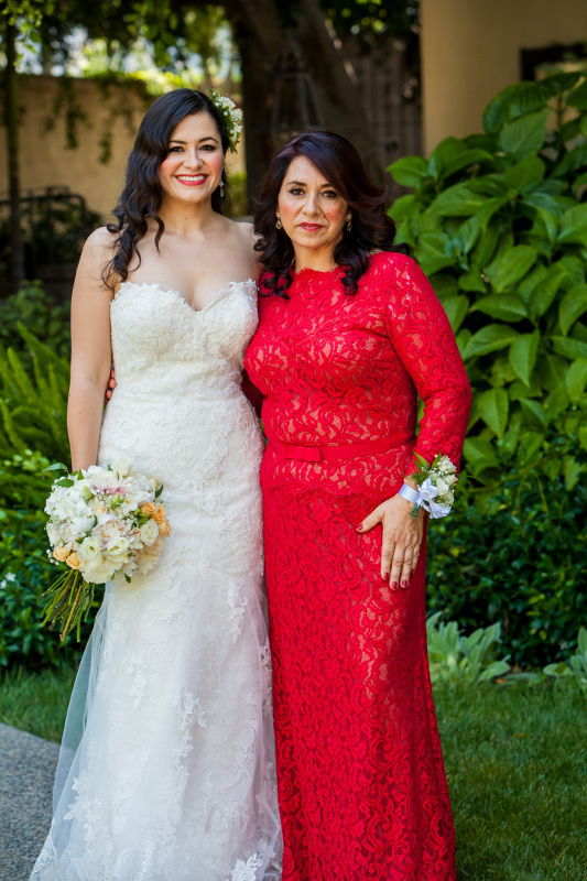 Darlene the bride with mother