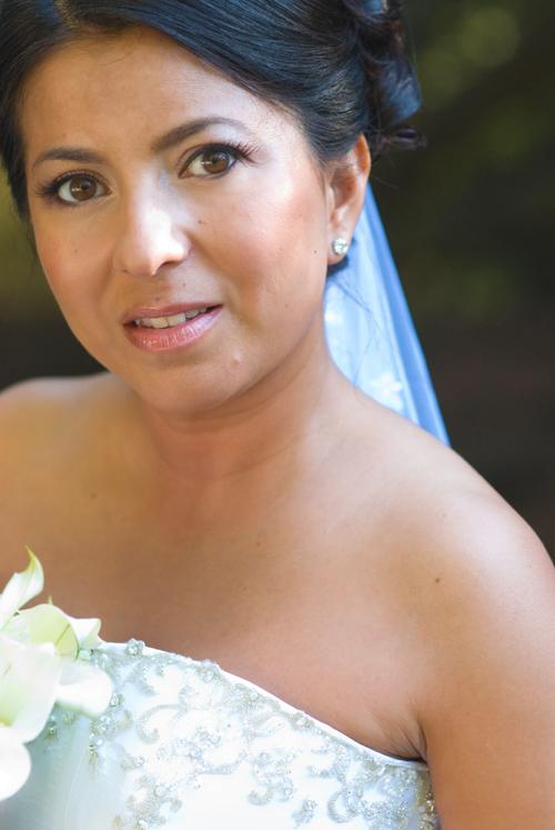 white flower bride